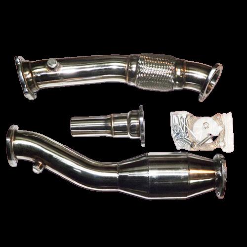 Downpipe voor A3 Quattro TT 76MM RVS met 200 cell racekat