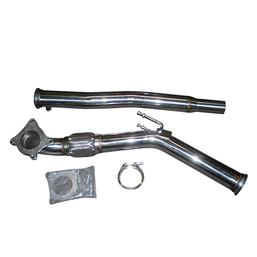 Downpipe voor Golf 5 GTI, 6 GTI 2.0 TFSI ø 76mm RVS flexibel stuk