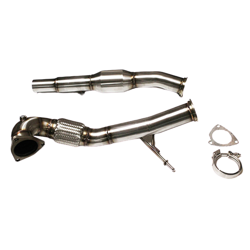 Downpipe Audi S3 8L/ TT 225 76mm met 200 cells racekat (V-band)
